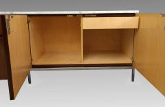 Florence Knoll Florence Knoll credenza in rosewood with Calacatta marble top 1964  - 1489741