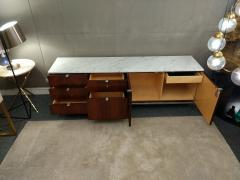 Florence Knoll Florence Knoll credenza in rosewood with Calacatta marble top 1964  - 1489743