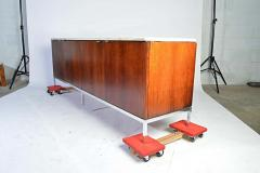 Florence Knoll Florence Knoll for Knoll International Marble Top Rosewood 4 Door Credenza - 1408292