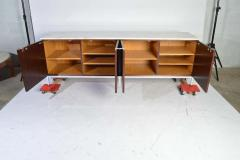Florence Knoll Florence Knoll for Knoll International Marble Top Rosewood 4 Door Credenza - 1408295