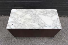 Florence Knoll Knoll Marble Top Credenza in Walnut and Calacatta Designed by Florence Knoll - 1867037