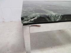 Florence Knoll Lovely Pair Florence Knoll Chrome Marble Side End Tables Mid Century Modern - 1760302