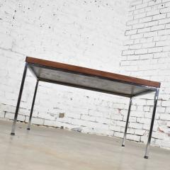 Florence Knoll MCM chrome walnut end or coffee table in the style of florence knoll - 1682236