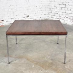 Florence Knoll MCM chrome walnut end or coffee table in the style of florence knoll - 1682237