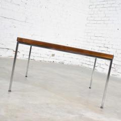 Florence Knoll MCM chrome walnut end or coffee table in the style of florence knoll - 1682269