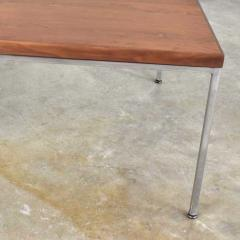 Florence Knoll MCM chrome walnut end or coffee table in the style of florence knoll - 1682270