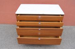 Florence Knoll Marble Topped Four Drawer Walnut Chest by Florence Knoll - 765060