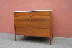 Florence Knoll Marble Topped Four Drawer Walnut Chest by Florence Knoll - 765061