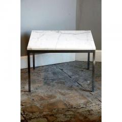 Florence Knoll Original Marble and Steel Coffee End Table by Florence Knoll for Knoll - 1080726