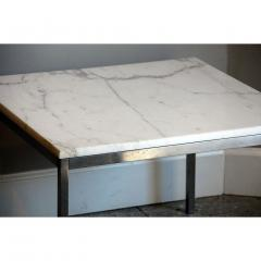 Florence Knoll Original Marble and Steel Coffee End Table by Florence Knoll for Knoll - 1080727