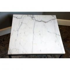 Florence Knoll Original Marble and Steel Coffee End Table by Florence Knoll for Knoll - 1080728