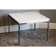 Florence Knoll Original Marble and Steel Coffee End Table by Florence Knoll for Knoll - 1080729