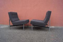 Florence Knoll Pair of Parallel Bar Lounge Chairs Model 51 by Florence Knoll - 1280567