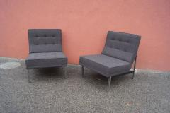 Florence Knoll Pair of Parallel Bar Lounge Chairs Model 51 by Florence Knoll - 1280571