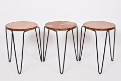 Florence Knoll Set of Three Florence Knoll Original Model 75 Stacking Stools - 1571995