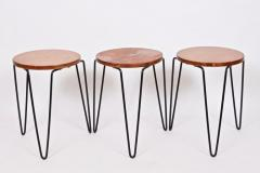 Florence Knoll Set of Three Florence Knoll Original Model 75 Stacking Stools - 1571996