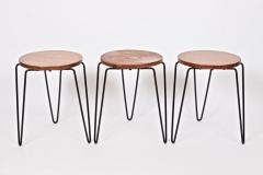 Florence Knoll Set of Three Florence Knoll Original Model 75 Stacking Stools - 1571997