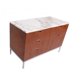 Florence Knoll Teak and Marble Florence Knoll Executive Small Chest for Knoll - 1203426