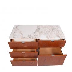 Florence Knoll Teak and Marble Florence Knoll Executive Small Chest for Knoll - 1203428