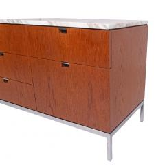 Florence Knoll Teak and Marble Florence Knoll Executive Small Chest for Knoll - 1203430