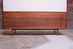 Florence Knoll Vintage Florence Knoll White Lacquer and Walnut Credenza Cabinet Model 541 - 1210241