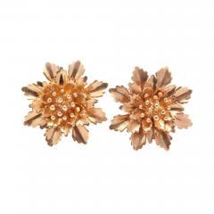 Flower Bouquet Gold Earrings - 385040