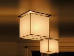 Flush Mount Custom Metal Cube Linen Fixture - 966567