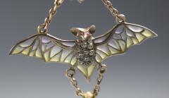 Flying Bat Georg Kleeman Pendant Plique A Jour Sterling Silver - 734943