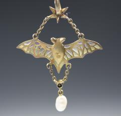 Flying Bat Georg Kleeman Pendant Plique A Jour Sterling Silver - 734946