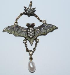 Flying Bat Georg Kleeman Pendant Plique A Jour Sterling Silver - 734947