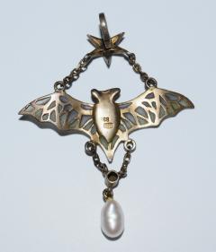 Flying Bat Georg Kleeman Pendant Plique A Jour Sterling Silver - 734948