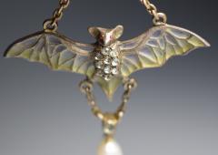 Flying Bat Georg Kleeman Pendant Plique A Jour Sterling Silver - 734949