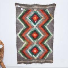 Folk Art Native American Wool Blanket Wall Art Bold Graphics Vivid Color - 1893298
