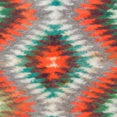 Folk Art Native American Wool Blanket Wall Art Bold Graphics Vivid Color - 1893301