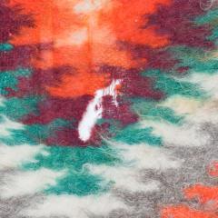 Folk Art Native American Wool Blanket Wall Art Bold Graphics Vivid Color - 1893302