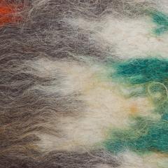 Folk Art Native American Wool Blanket Wall Art Bold Graphics Vivid Color - 1893303