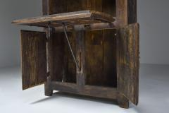 Folk art 19th century travail dart populaire cabinet from Bretagne France - 2052327