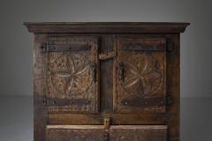 Folk art 19th century travail dart populaire cabinet from Bretagne France - 2052338