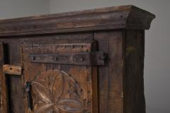 Folk art 19th century travail dart populaire cabinet from Bretagne France - 2052339