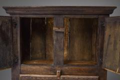 Folk art 19th century travail dart populaire cabinet from Bretagne France - 2052340