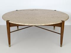 Folke Ohlsson Travertine Coffee Table by Folke Ohlsson for DUX Sweden - 1096704