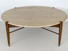 Folke Ohlsson Travertine Coffee Table by Folke Ohlsson for DUX Sweden - 1096707