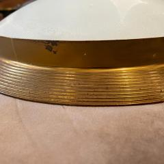 Fontana Arte 1950s Fontana Arte Attributed Brass and Glass Round Ceiling Light - 2132619