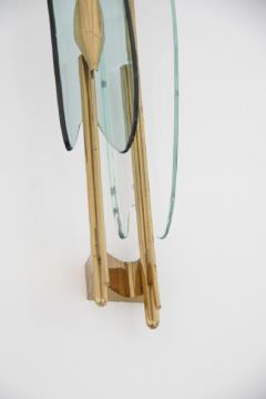 Fontana Arte 4 Wall Lights with Transparent and Green Bent Cut Glasses - 598516