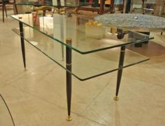 Fontana Arte A Two Tiered Glass Cocktail Table in the style of Fontana Arte - 256666