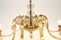 Fontana Arte Brass Glass Chandelier - 264039