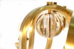 Fontana Arte Brass Glass Chandelier - 264042