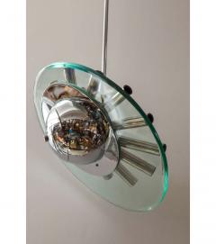 Fontana Arte Chrome and Glass Chandelier by Fontana Arte - 789023