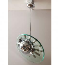 Fontana Arte Chrome and Glass Chandelier by Fontana Arte - 789024