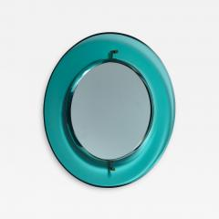 Fontana Arte Early Luigi Fontana for Fontanit glass mirror in green blue Italy 1950s - 1085803